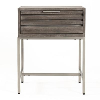 Wilton Grey Wash Mango Wood Bed Side Table