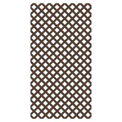 0.2 in. x 48 in. x 8 ft. Brazilian Walnut Vinyl Classic Diamond Lattice