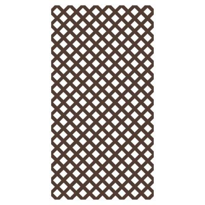 4 ft. x 8 ft. Brazilian Walnut Garden Vinyl Lattice