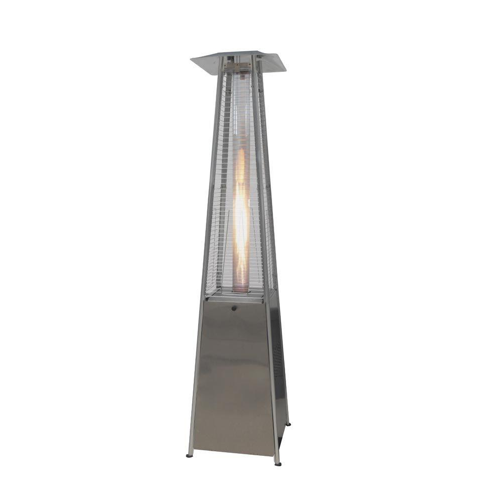 Hampton Bay 40 000 Btu Stainless Steel Pyramid Flame Propane Gas Patio Heater Bfc A Ss The Home Depot