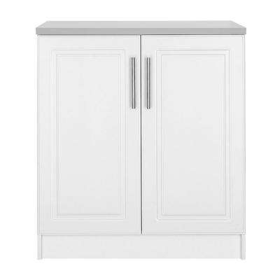 Select 24 in. D x 32 in. W x 36 in. H MDF 2-Door Base Wood Freestanding Cabinet in White