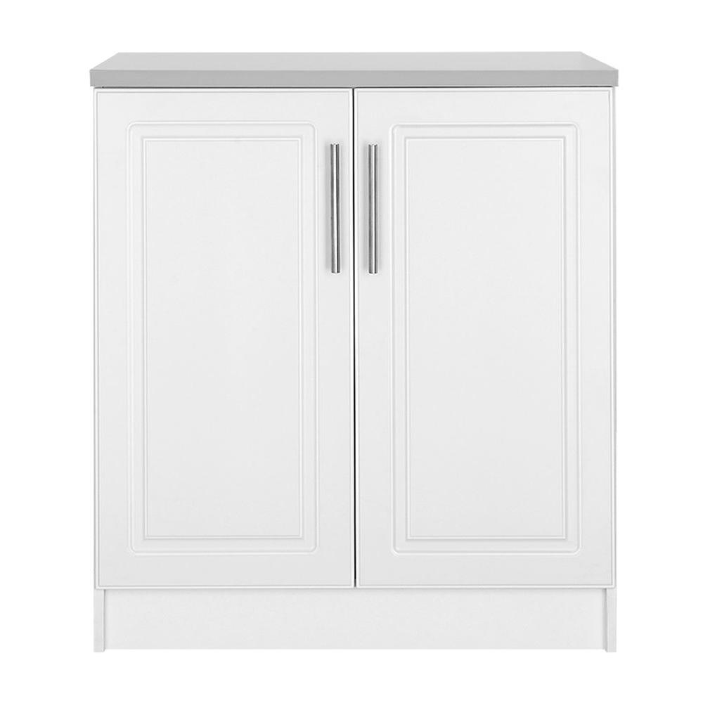 Hampton Bay Select Mdf 2 Door Base Cabinet In White Thd900686a