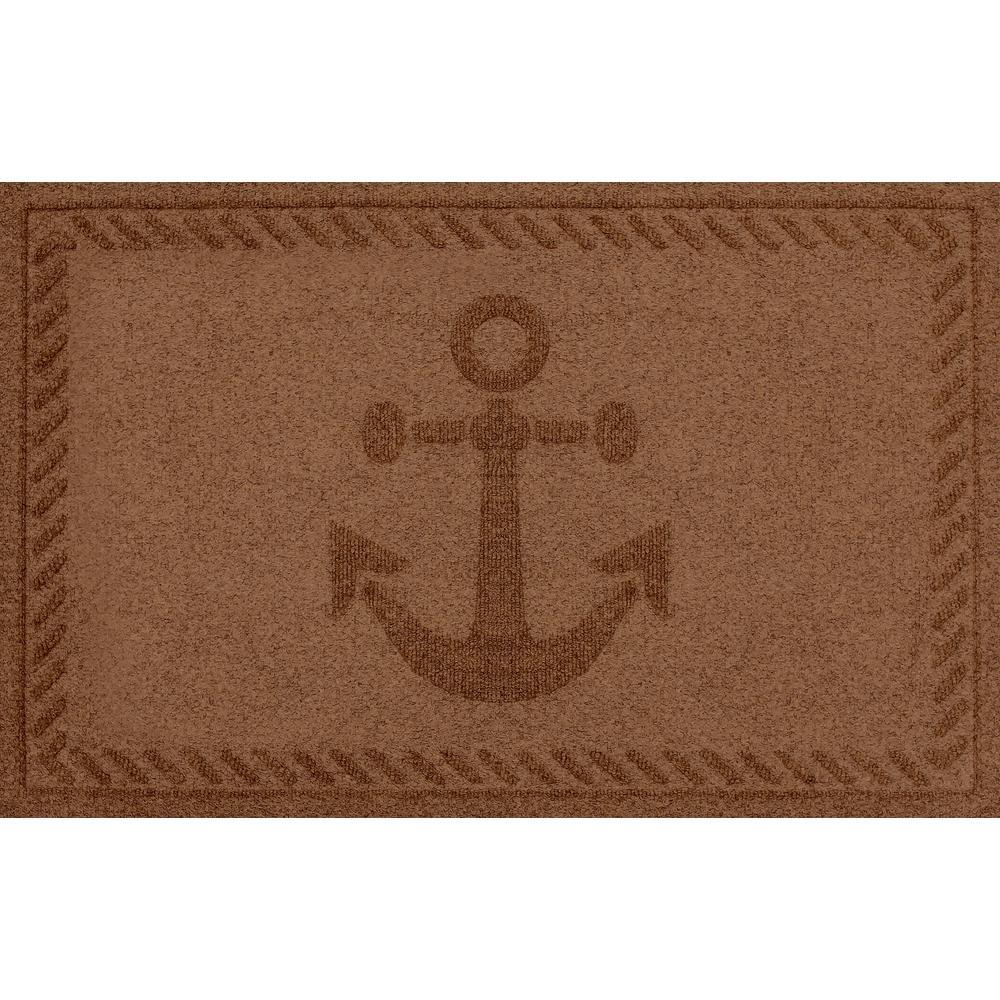 Awesome Aqua Shield Dark Brown 24 In. X 36 In. Ships Anchor Polypropylene Door Mat