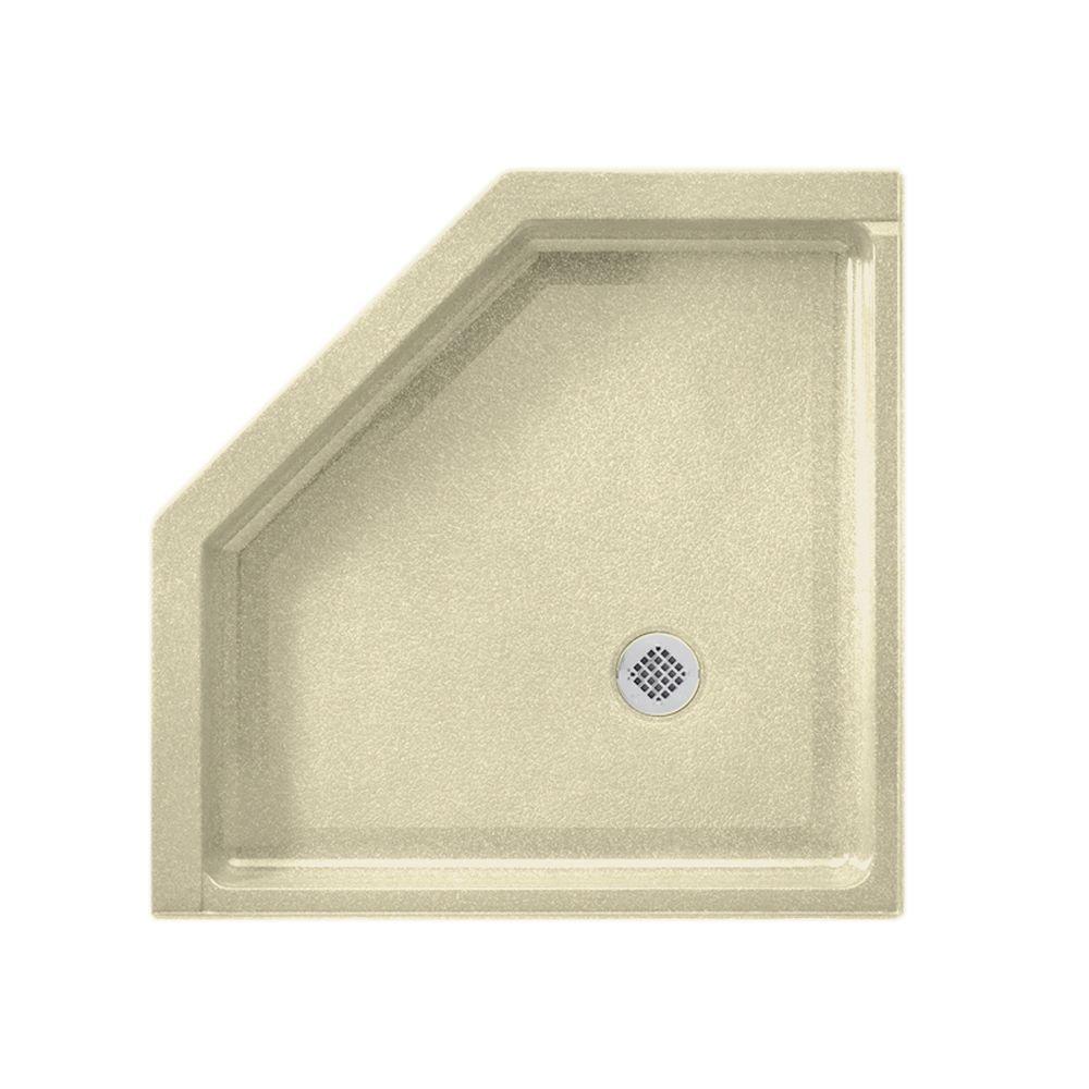 Neo Angle 38 in. x 38 in. Veritek Shower Floor in Bone