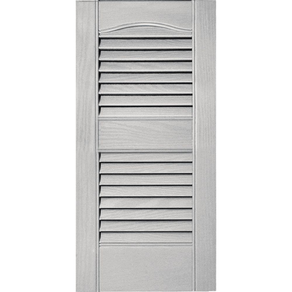 Louvered Vinyl Exterior Shutters Pair In