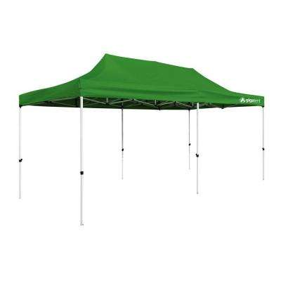 Party Tent 10 ft. x 20 ft. Green Canopy