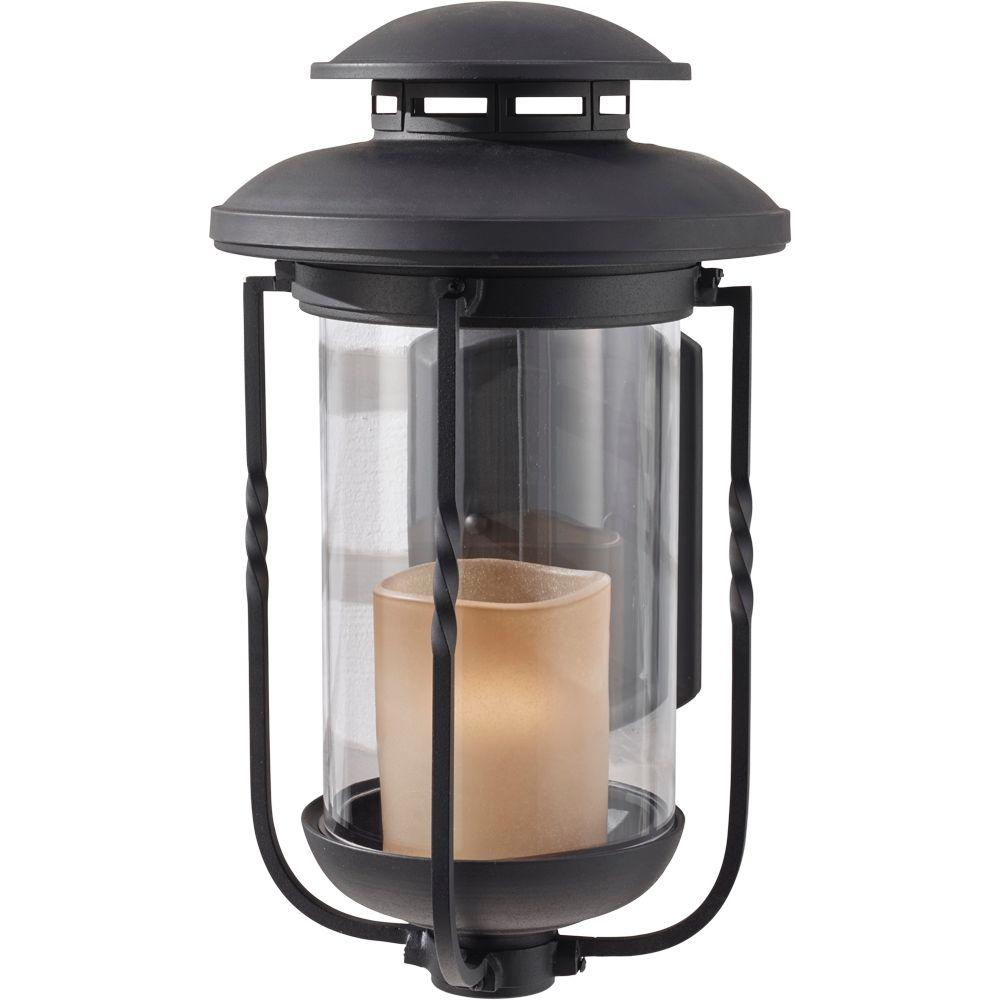 Feiss Menlo Park 1-Light Textured Black Outdoor Wall Lantern