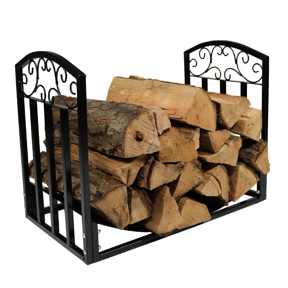24 in. Decorative Firewood Log Rack Holder