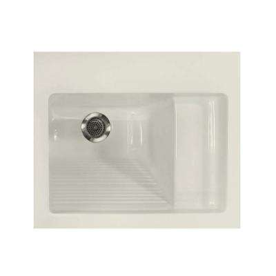 21 in. x 26 in. Acrylic Top-Mount Laundry Sink