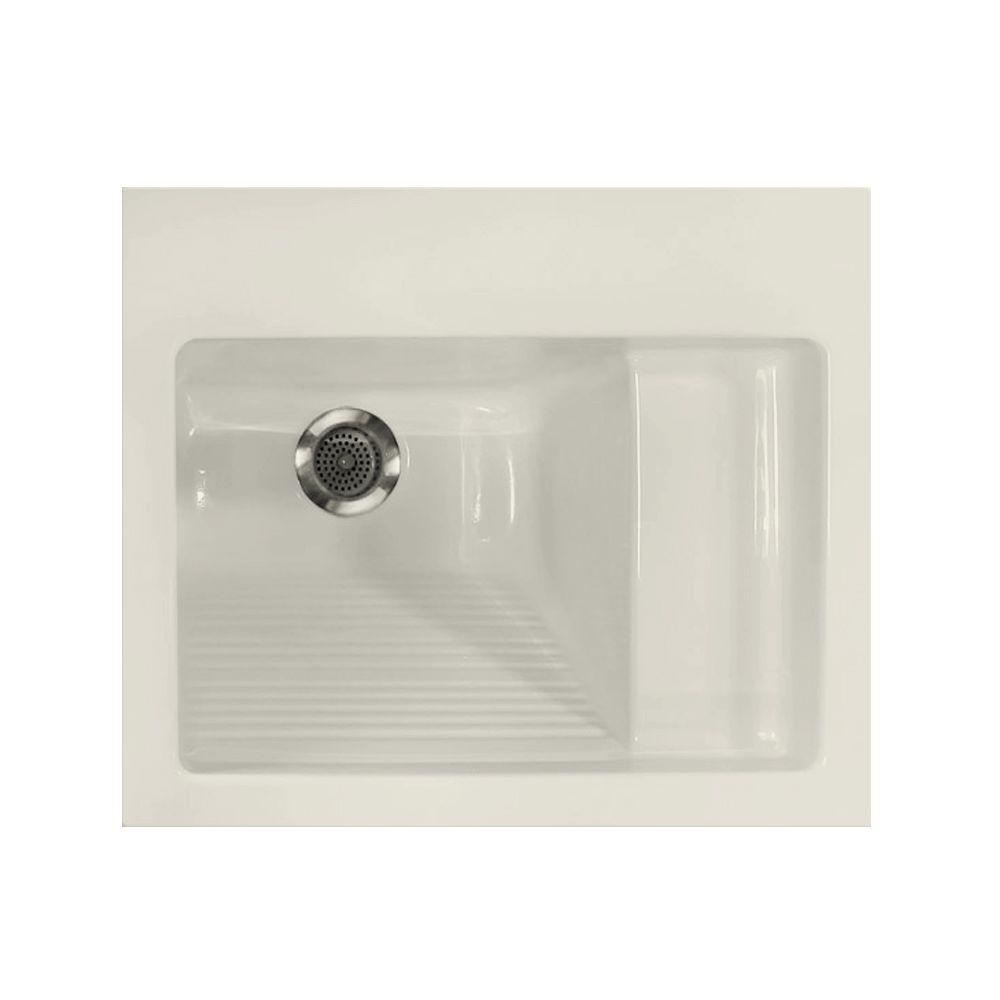 Hydro Systems 21 in. x 26 in. Digital Control Acrylic Laundry Sink, Biscuit