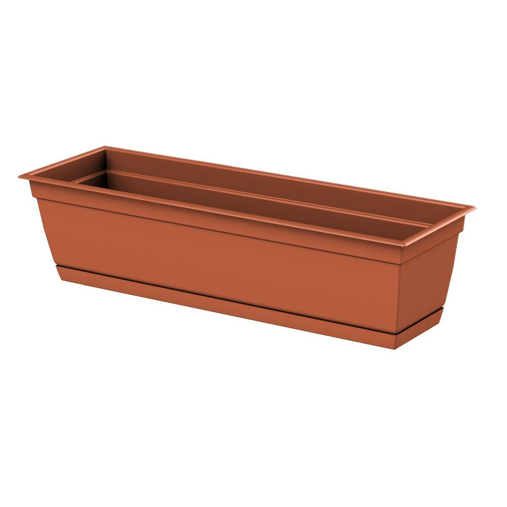 Dayton 24.0 in. x 6.70 in. Clay Plastic Window Box