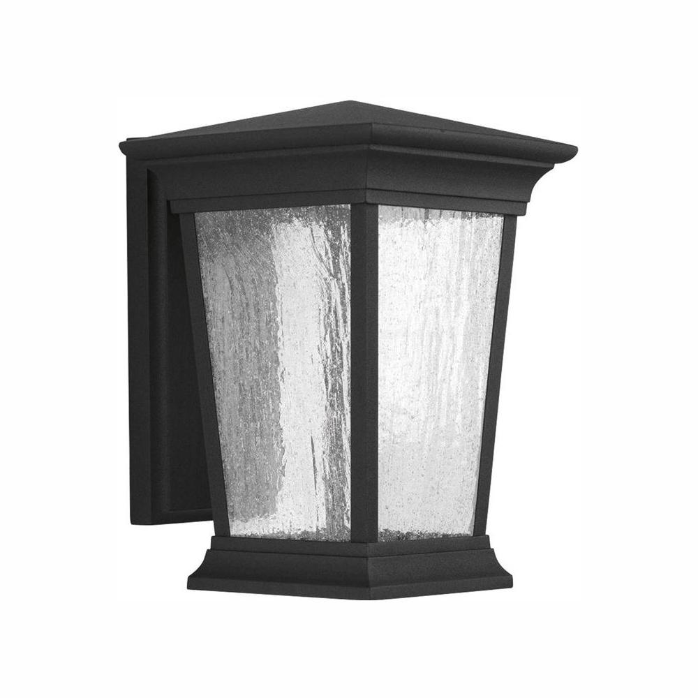 Progress Lighting Arrive Collection 1-Light 11.1 in. Outdoo Black LED Wall Lantern Sconce