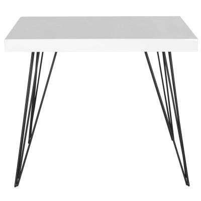 Wolcott White and Black End Table