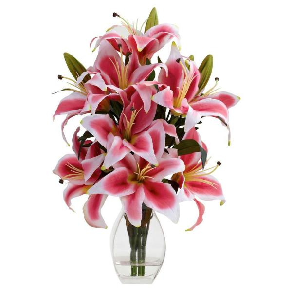 Rubrum Lily with Decorative Vase
