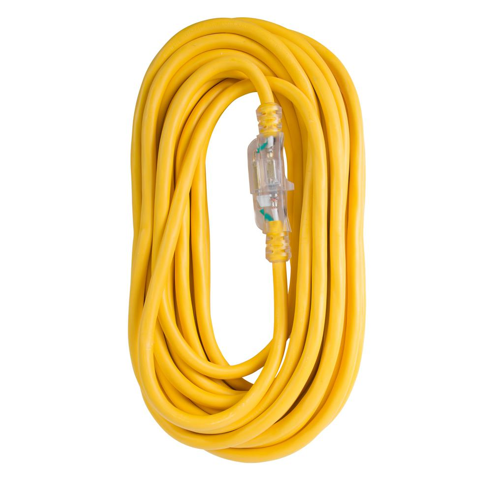 100 ft. 12/3 SJTW 15 Amp/125-Volt Outdoor Single Receptacle Extension Cord,