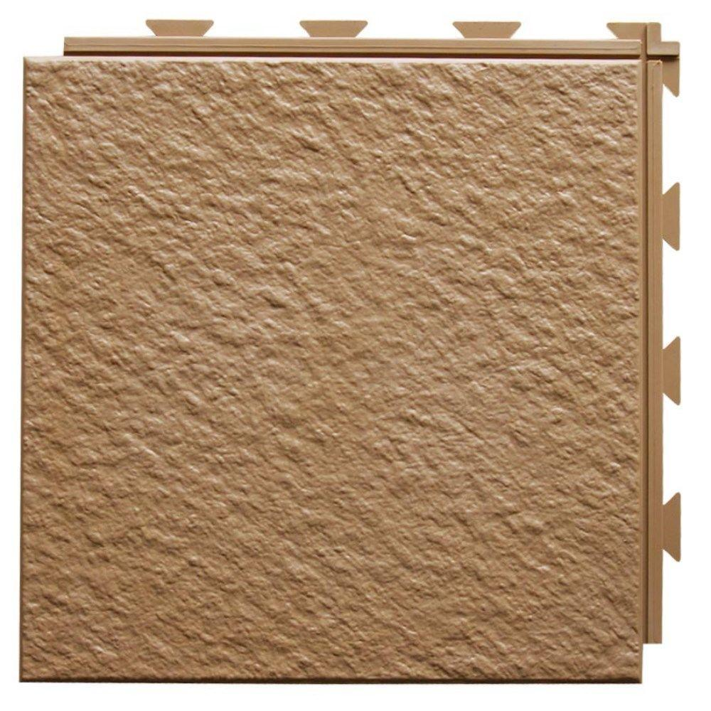 Hiddenlock Slate Top Brown 12 in. x 12 in. x 1/4