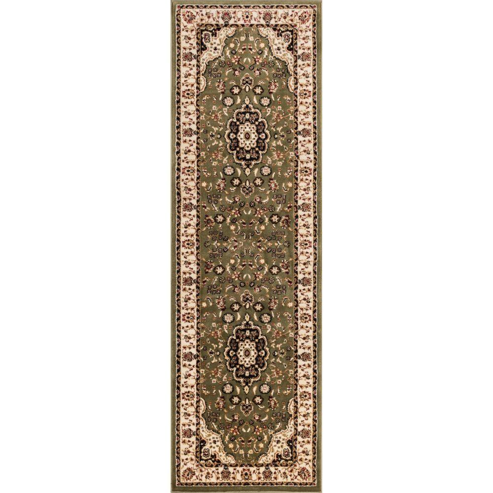 Barclay Medallion Kashan Green 2 ft. 3 in. x 7 ft.