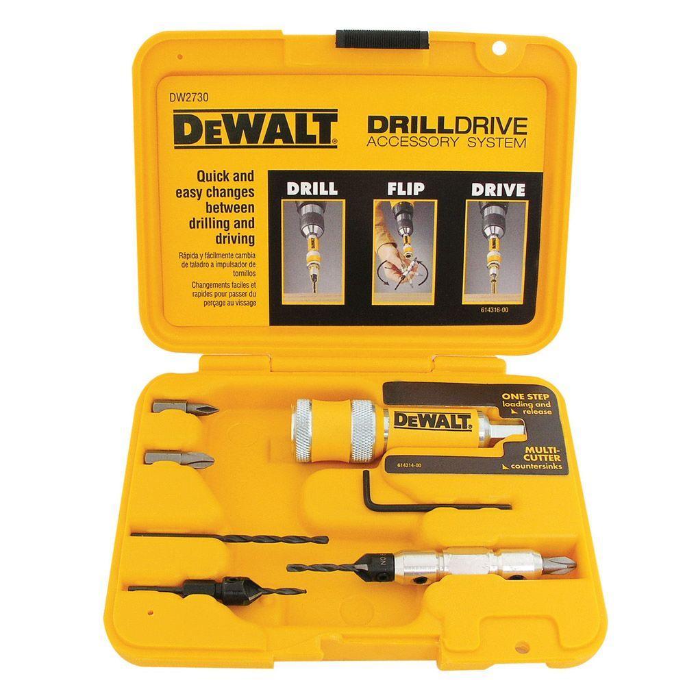 Dewalt Drill Drive Set 8 Piece Dw2730 The Home Depot