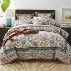 Deerfield Garden Multi Cotton Full Duvet Cover
