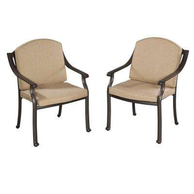 Covington Patio Arm Chair with Antique Gold Cushions (Set of 2)