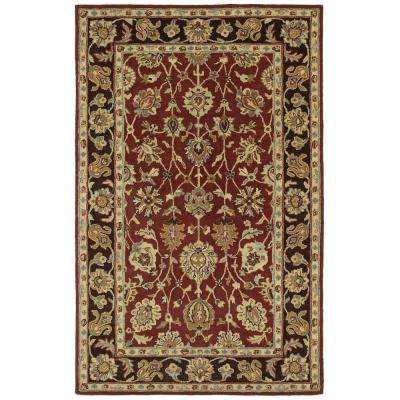Heirloom Deborah Burgundy 10 ft. x 14 ft. Area Rug