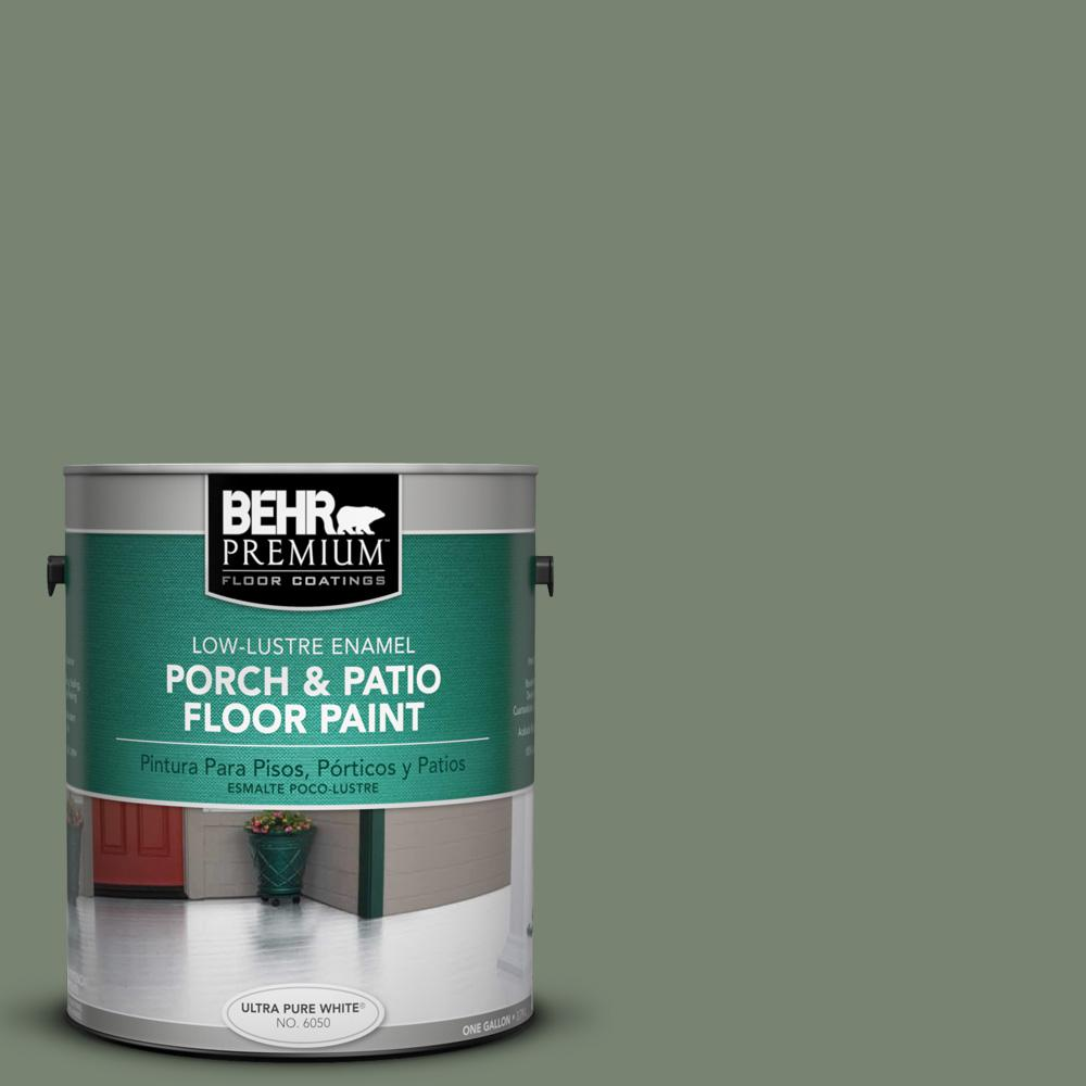 Behr Premium 1 Gal Icc 77 Sage Green Low Re Porch And
