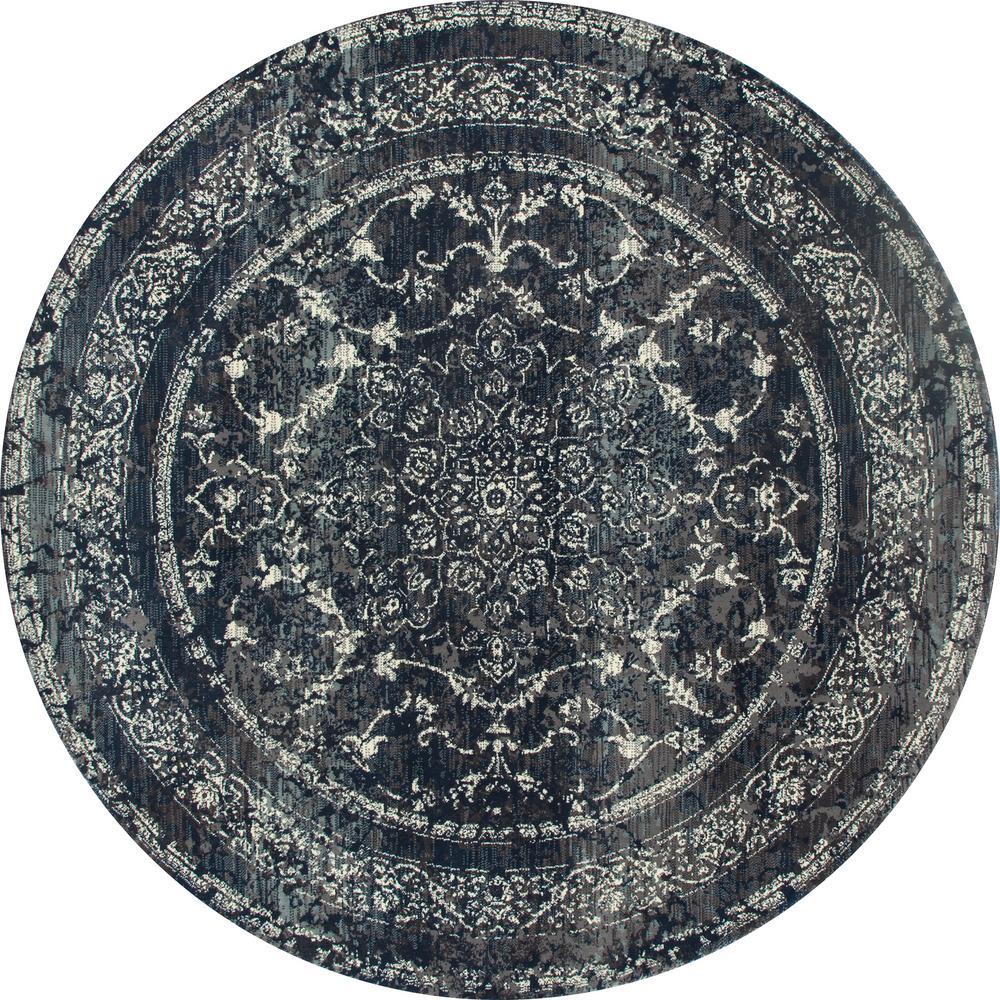 Art Carpet London Treasure Steel Blue 5 Ft. 3 In. X 5 Ft