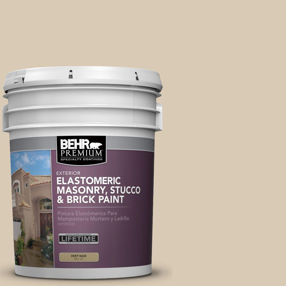 5 gal. #MS-41 Sandstone Beige Elastomeric Masonry, Stucco and Brick Exterior