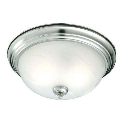 1-Light Brushed Nickel Ceiling Flushmount