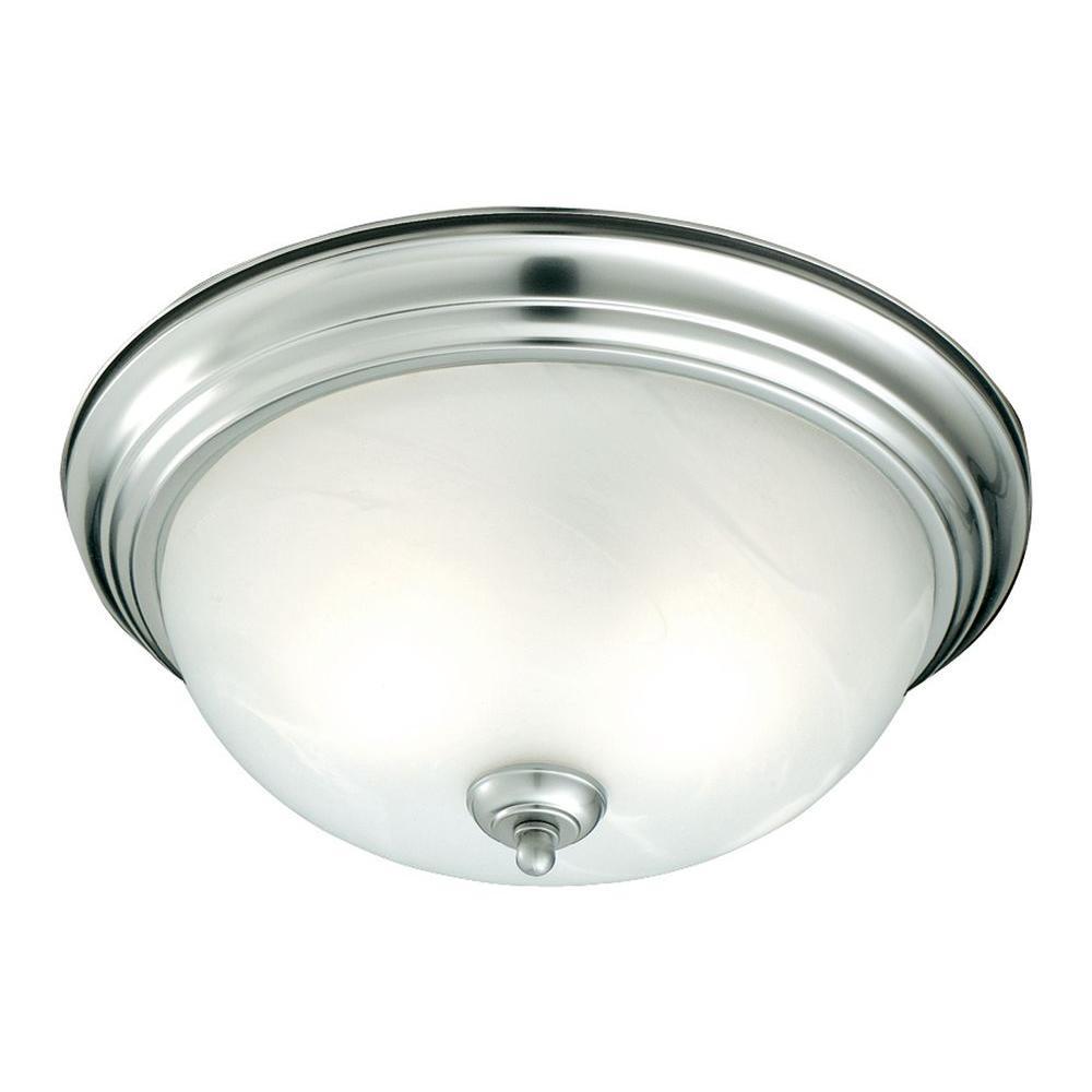 Thomas Lighting 1-Light Brushed Nickel Ceiling Flushmount by Thomas Lighting