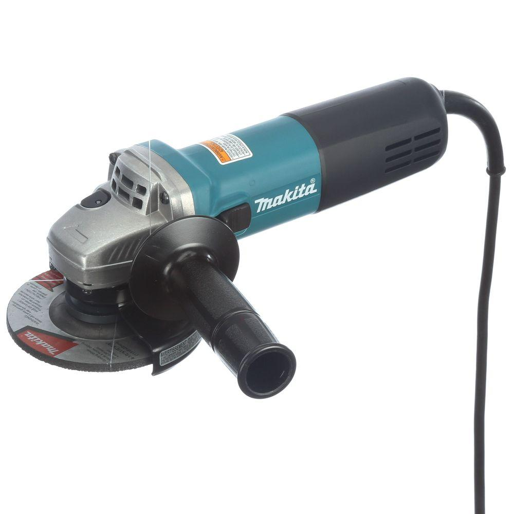 makita 7 5 amp corded 4 2 in  easy wheel change compact