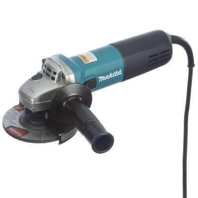 7.5 Amp Corded 4-1/2 in. Easy Wheel Change Compact Angle Grinder with Grinding Wheel, Wheel Guard, and Side Handle