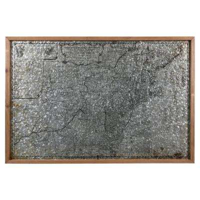 """23.50 in. H """"Map of Middle British Colonies in North America"""" Printed Wall Panel"""