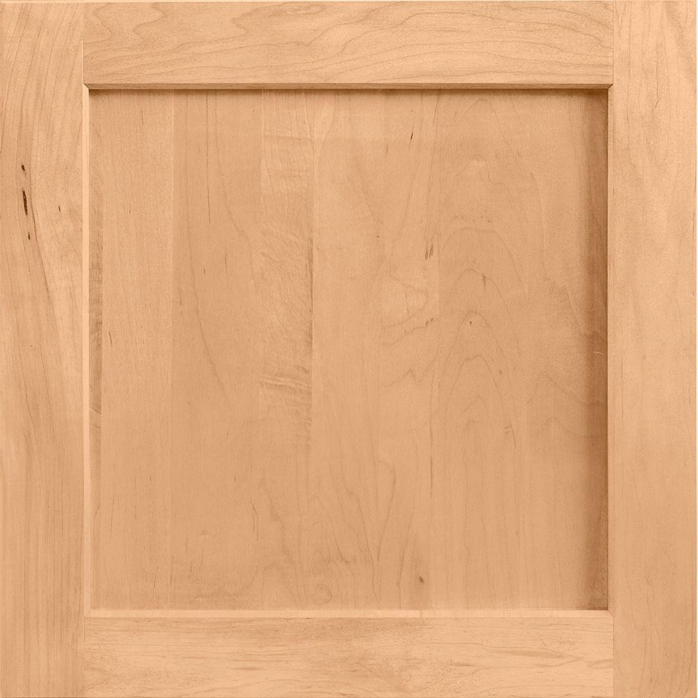 American Woodmark 14-9/16x14-1/2 in. Cabinet Door Sample in Townsend Maple Honey
