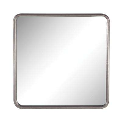 8fb27b80f3ab 30 in. x 30 in. Square Metallic Gray Framed Wall Mirror