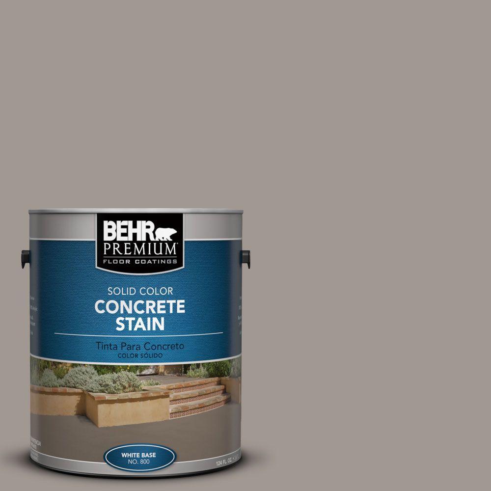 BEHR Premium 1 gal. #PFC-73 Pebbled Path Solid Color Interior/Exterior Concrete Stain