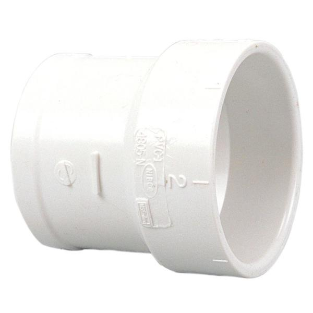 3 in. PVC DWV Soil Pipe Hub x No Hub Adapter