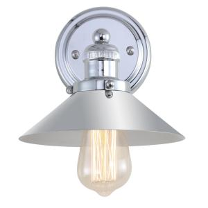 June 7.75 in. Metal Shade Chrome Sconce