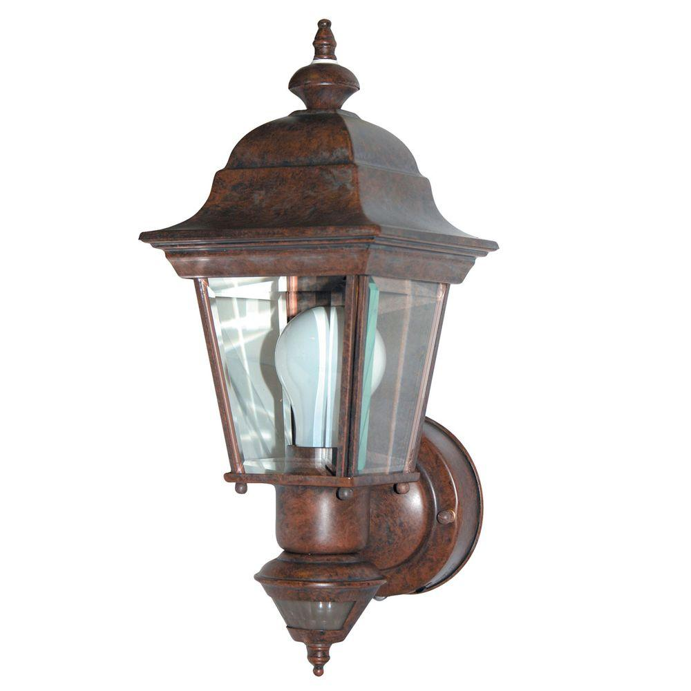 Heath Zenith 150 Degree Artisian Motion Sensing Decorative Lantern - Bronze -Discontinued