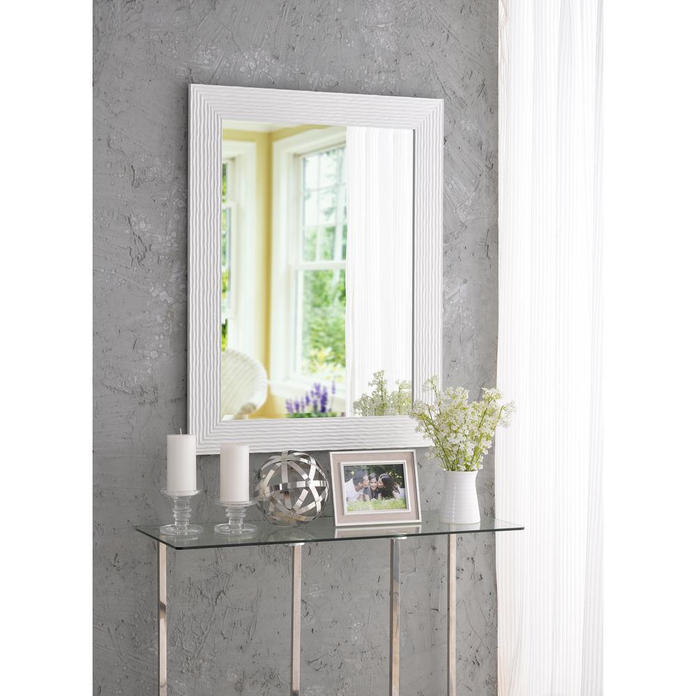 Lizette Square White Decorative Wall Mirror