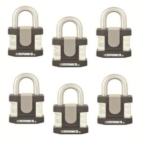 Brinks Home Security 50 mm Commercial Padlock Laminated Steel (6-Pack) by Brinks Home Security