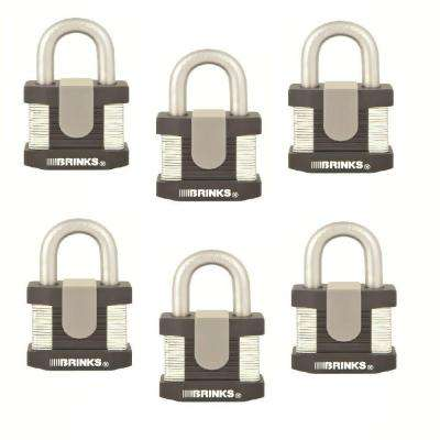 50 mm Commercial Padlock Laminated Steel (6-Pack)