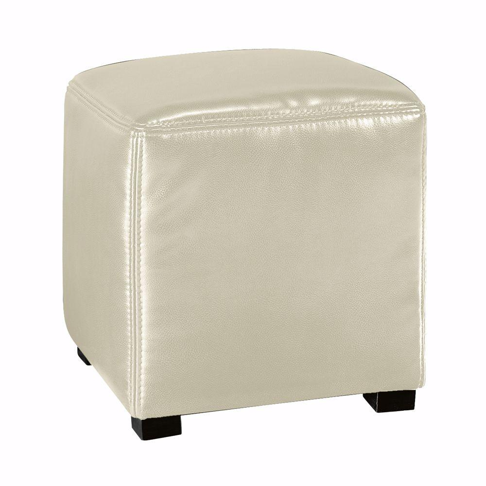 Home Decorators Collection Tracie Cream Accent Ottoman