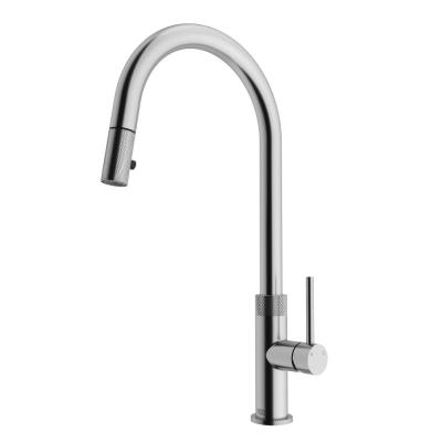 Bristol Single-Handle Pull-Down Sprayer Kitchen Faucet in Stainless Steel