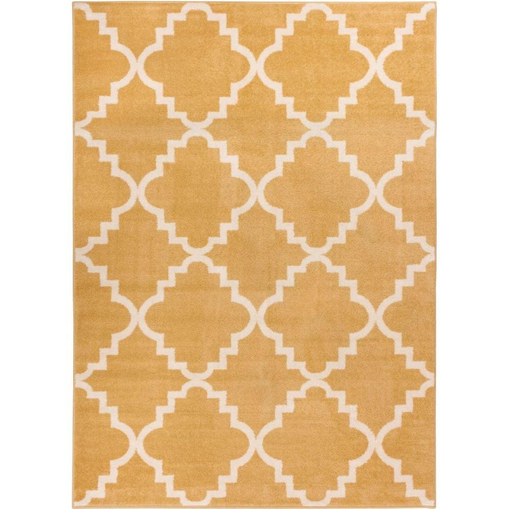 Sydney Lulu's Lattice Trellis Gold 5 ft. 3 in. x 7