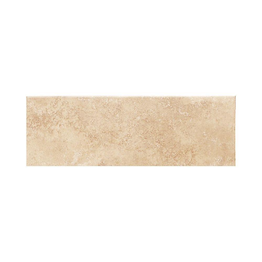 Daltile brixton sand 3 in x 12 in glazed ceramic surface salerno nubi bianche 3 in x 10 in glazed ceramic bullnose dailygadgetfo Images