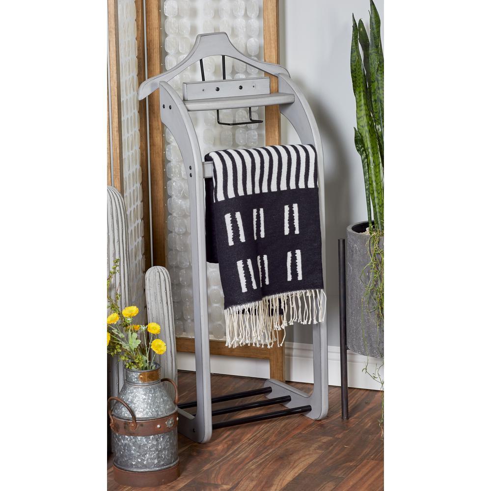 Gray Wooden Valet Rack