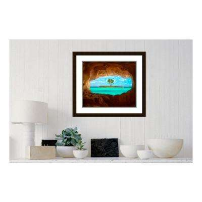 27.25 in. W x 24.25 in. H Paradise by Matt Anderson Framed Wall Art