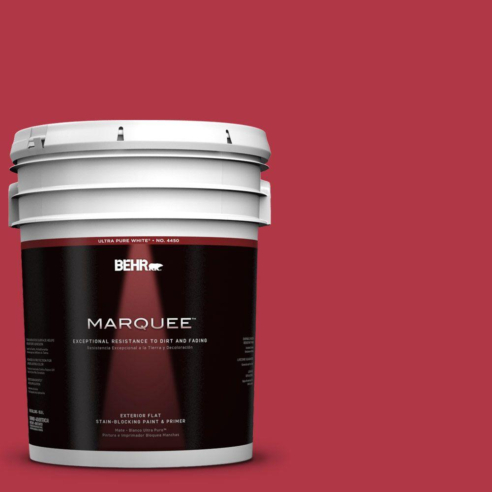 BEHR MARQUEE 5-gal. #140B-7 Frosted Pomegranate Flat Exterior Paint