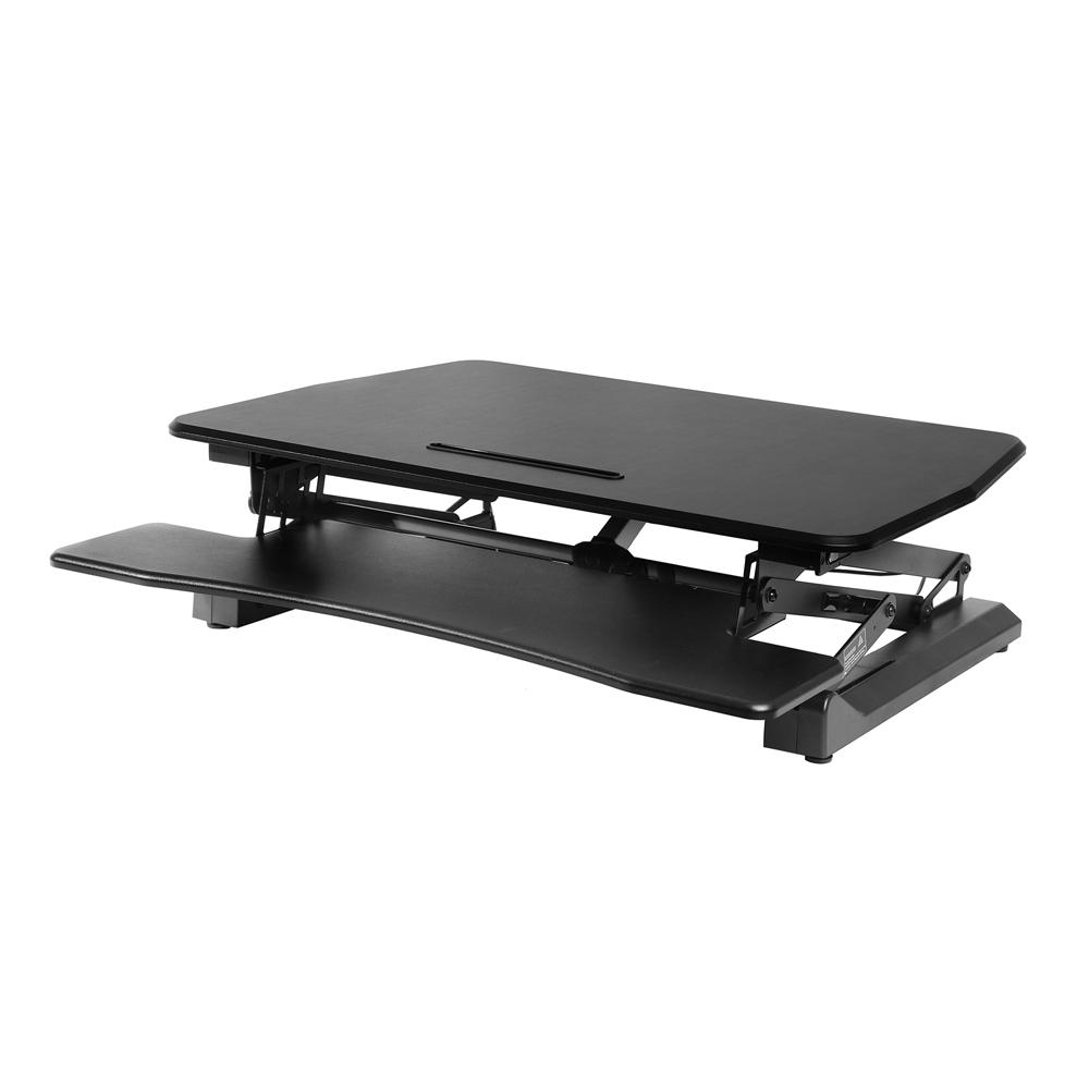 Seville Classics Airlift Black Electric Standing Desk